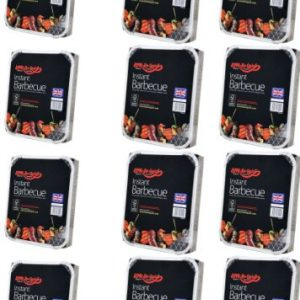 12 X Bar-Be-Quick Instant Barbecue packs- Each pack feeds 4 people-World's best brand leading disposable BBQ