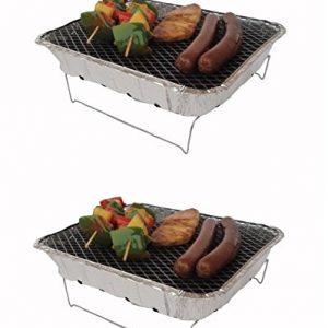 2 x Pagoda Outdoor Disposable BBQ Barbecue With Stand