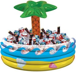Amscan International Inflatable Cooler Tropical Palm Hawaiian