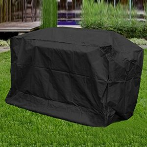 Aulola® Big Fitted BBQ Cover / Waterproof Dustproof Barbeque Grill Cover Elasticated Hem Breathable Protection / Extra Large Design 190cm Length 117cm High