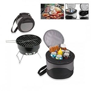 BBQ GRILL SET WITH COOLER BAG PORTABLE FOLDING MINI CHARCOAL