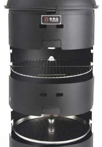 BBQ Tower Multi-Level Charcoal Barbecue Grill Matte Black