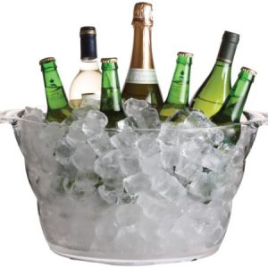 BarCraft Acrylic Large Drinks Cooler Bucket, 47 x 28 cm (18.5″ x 11″)