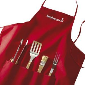 Barbecook Apron with 4-Barbecue Tools