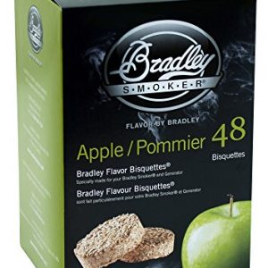 Bradley Smoker Apple Flavour Bisquettes (Pack of 48)