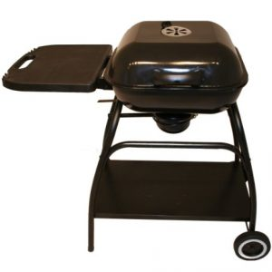 Charles Bentley 18″ Portable Steel Square Charcoal Bbq Grill Garden Barbecue -Black