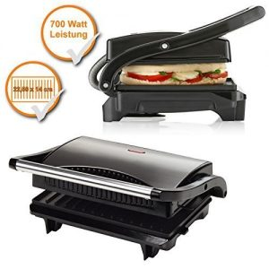 Compact Contact Grill, Paninigrill, powerful 700W, Table grill (ideal for on the go, Braten area)