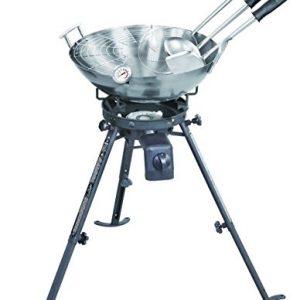 Complete Wok Set & High Power Burner – Outdoor Wok Set with Carbon Steel Wok (45cm)