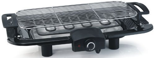 E table Grill, Electric Grill, powerful 2000Watt, large grilling surface 17.7×8.9in, easy cleaning, BBQ-Grill