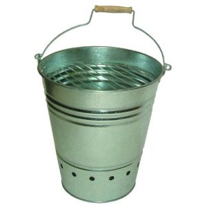 Easily portable Bucket BBQ