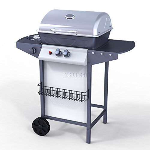 foxhunter garden outdoor portable bbq gas grill stainless steel 2 burner barbecue barbeque 1. Black Bedroom Furniture Sets. Home Design Ideas