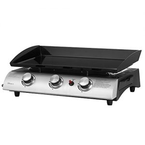Gas BBQ 3 Burner Plancha in Stainless Steel