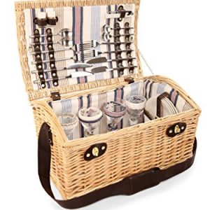 Greenfield Collection Oxford Willow Picnic Hamper for Four People