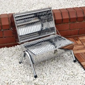 Kingfisher PORTABLE BBQ STAINLESS STEEL BARREL BARBEQUE