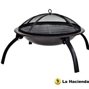 2 x La Hacienda Firebowl BBQ Barbeque with Folding Legs and Carry Bag for Portability