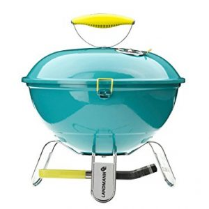 Landmann Piccolino 31375 37cm Portable Charcoal Barbecue – Turquoise