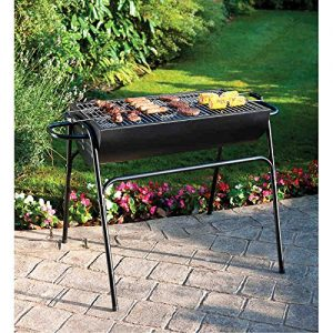 Large Family Drum BBQ Summer gardening Outdoor BBQ Tall Standing Grill