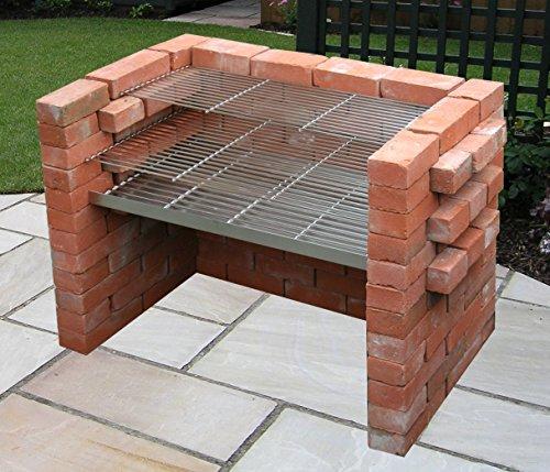 large stainless steel diy brick charcoal bbq kit 910mm bbq sale. Black Bedroom Furniture Sets. Home Design Ideas