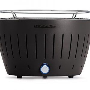 LotusGrill Standard Charcoal Barbecue with Fan Grill – Anthracite Grey