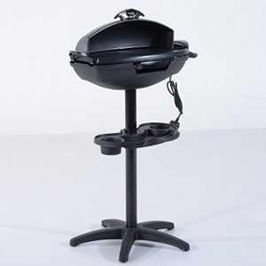 Outsunny 2000W Garden Stand Electric Grill Aluminum Non-stick Portable Kitchen Outdoor Barbecue BBQ Cooking Cooker Patio Heating Heat