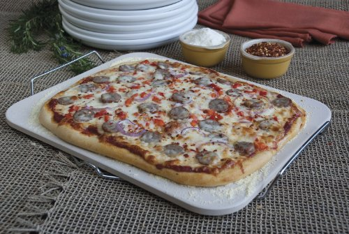 Rectangle Pizza Stones : Pizza craft  inch rectangle stone with