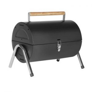 Portable Black Fold Up Barrel Bbq Barbecue