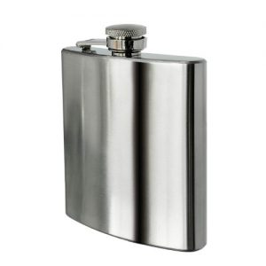 Premier Housewares Stainless Steel Hip Flask, 8 oz