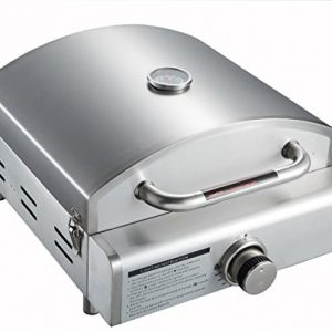 Super Grills 3 in 1 portable stainless steel table Top Gas BBQ grill Pizza oven