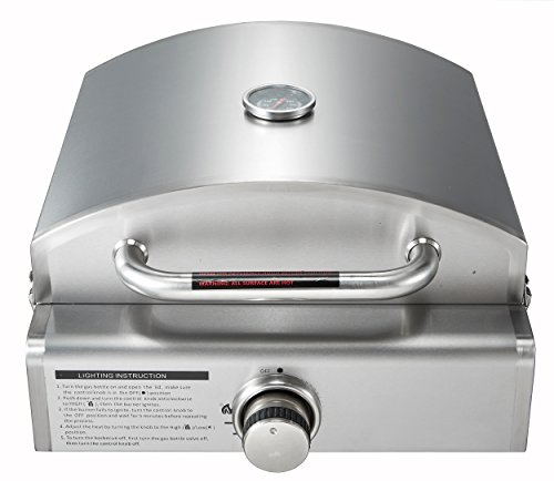 Super Grills 3 In 1 Portable Stainless Steel Table Top Gas