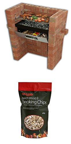 The Original Bar-Be-Quick Build In Grill & Bake + Free pack of Beechwood smoking chips