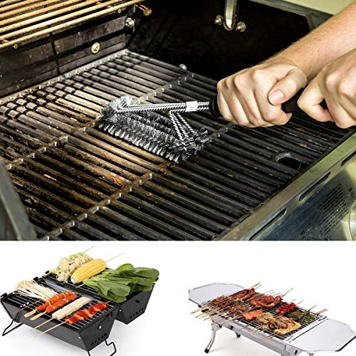 Upgraded Bbq Grill Brush 18 Quot Long 3 Stainless Steel