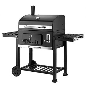 XXL Charcoal BBQ Grill – Includes two side tables