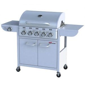 broil-master Professional BBQ Gas Grill 5 + 1 Silver (tested by TÜV Rheinland)