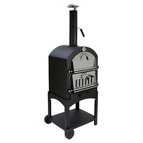 kukoo outdoor pizza oven wood fired charcoal garden. Black Bedroom Furniture Sets. Home Design Ideas